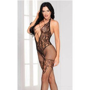 Seamless Floral Interaction Bodystocking